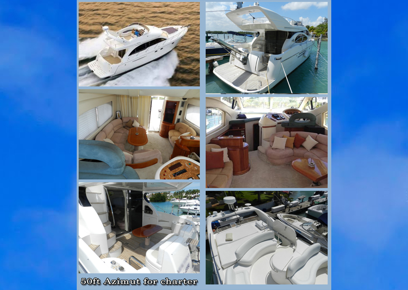 50ft Azimut Charter Cayman islands