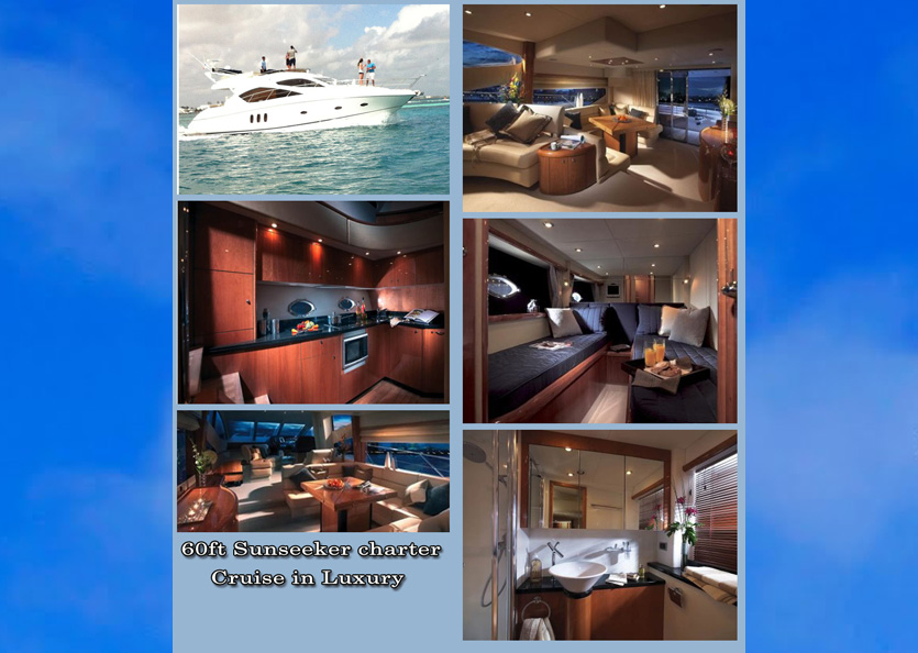 60' Sunseeker Manhattan, Grand Cayman Yacht Charters