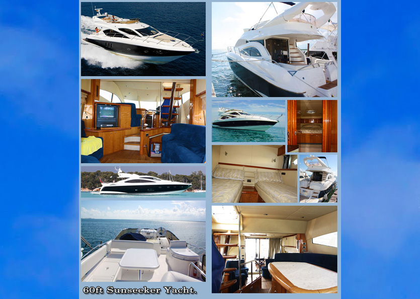 60' Sunseeker Yacht Charters Grand Cayman